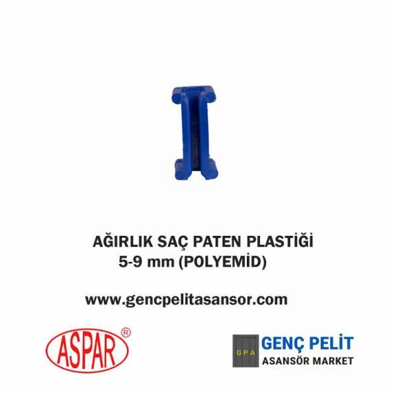 AĞIRLIK SAÇ PATEN PLASTİĞİ 5-9 mm POLYEMİD